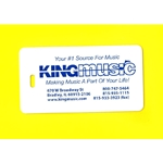 King Music Instrument Case Tag